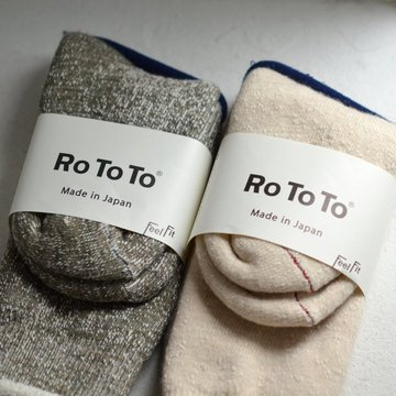RoToTo(ロトト) DOUBLE FACE SOCKS -2色展開- #R1001