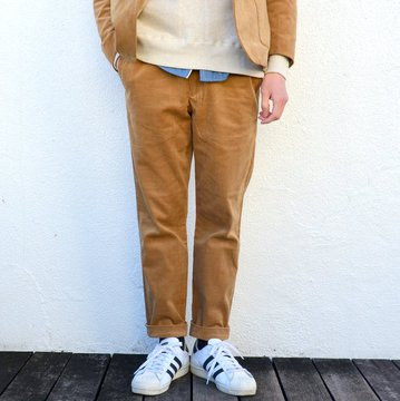 A VONTADE(ア ボンタージ) Slim Easy Slacks Stretch Corduroy -TAN- #VTD-0291-PT-C