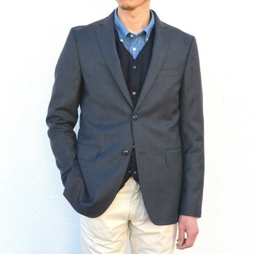Officine Generale(オフィシンジェネラール)/ FLANNEL JACKET ITALIAN WOOL JACKET -DARK GREY- #PERMTLG026