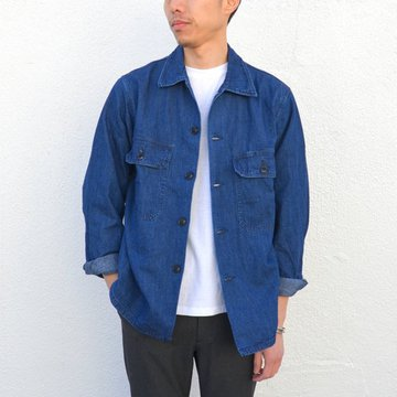 A VONTADE(ア ボンタージ) Poplin Utility Shirt-C/Linen Denim-INDIGO(ANTIQUE WASHED- #VTD-0292-JK