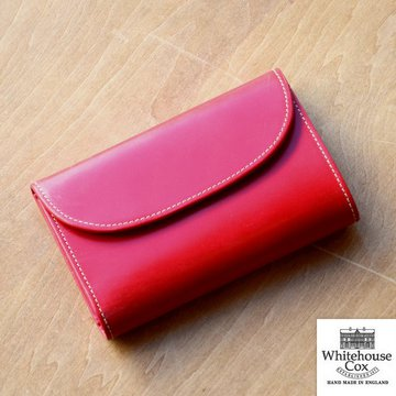 Whitehouse Cox (ホワイトハウスコックス)  3FOLD WALLET BRIDLE S7660 -RED-