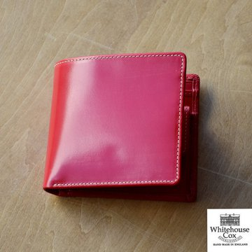 Whitehouse Cox (ホワイトハウスコックス)  COIN WALLET BRIDLE S7532 -RED-