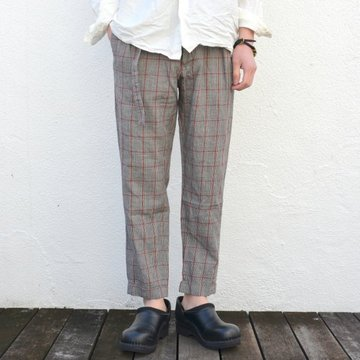 【17 SS】 Honor gathering(オナーギャザリング) Prince of Wales belted 2tuck slacks -gray check- #17SS-P01