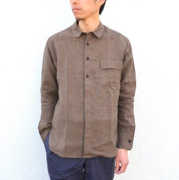【30% off sale】S.E.H KELLY(エス・イー・エイチ・ケリー) /  NORTHERN IRISH GLEN-CHECK LINEN RAGLAN -(85)BROWN- #5116031