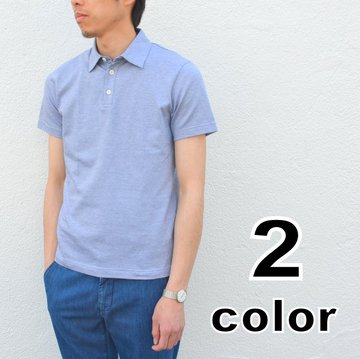 【40% off sale】Harris Wharf London(ハリスワーフロンドン)/ Man polo Cotton Shirt -2color- #C4002PGC