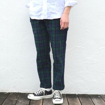 KENNETH FIELD (ケネスフィールド)  CEREMONY TROUSER PLAIDS -BLACKWATCH- #17SS-46