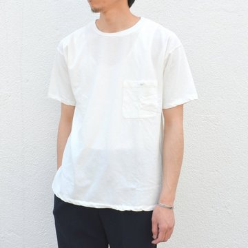 Honor gathering(オナーギャザリング) Over classic pocket T -off white- #17SS-T01