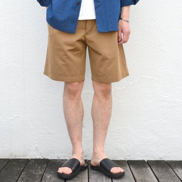 Honor gathering(オナーギャザリング) micro tussah short pants -army beige- #17SS-HP01