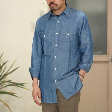 【30% OFF SALE】【2017 SS】7 × 7 / seven by seven ( セブン バイ セブン ) CHAMBRAY SHIRT  - ONE WASH -  #SS2017-7x7CBS