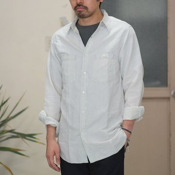 【30% OFF SALE】【2017 SS】7 × 7 / seven by seven ( セブン バイ セブン ) CHAMBRAY SHIRT  - BLEACH -  #SS2017-7x7CBS