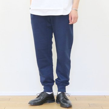 Merz b. Schwanen(メルツ・ベー・シュヴァーネン) sweat pant with fly -ink blue- #3S58