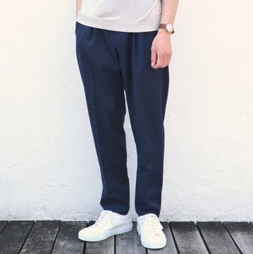G.T.A(ジー・ティー・アー)/ 2PLT CROPPED / WOOL TRO NATURAL STRETCH -(820)NAVY- #50184