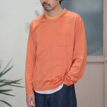 【30% OFF SALE】【2017 SS】7 × 7 / seven by seven ( セブン バイ セブン ) T-SHIRT L/S  -ORANGE -  #SS2017-7x7TSL