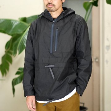 【40% off sale】FRANK LEDER(フランク リーダー) WASHED GERMAN VENTILE COTTON WINDBREAKER -BLACK-  #0917108