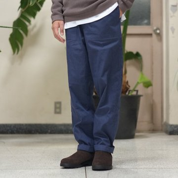 【40% off sale】FRANK LEDER(フランク リーダー) WASHED GERMAN VENTILE COTTON TROUSER -(39)NAVY-  #0913111