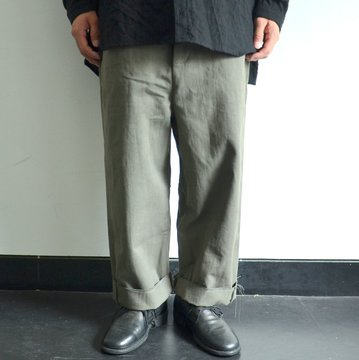 toogood(トゥーグッド) / THE SCULPTOR TROUSER DYED CALICO HW -FOG- #62034990