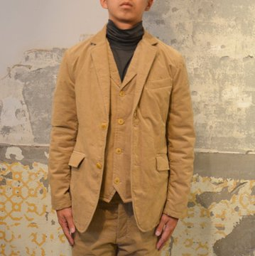 【40% OFF SALE】 ts(s) (ティーエスエス) Thin Wale Stretch Corduroy Cloth Padded 2 Button Jacket -(59)Khaki- #ST37IJ02