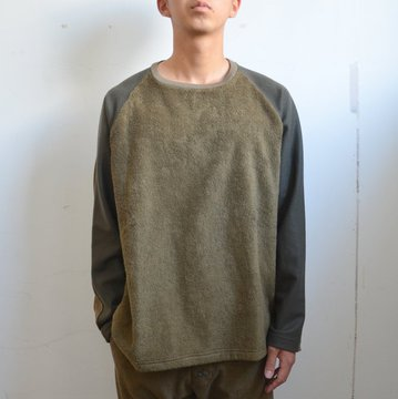 【30% OFF SALE】THING FABRICS(シング ファブリック)/ 4 change cloth long sleeve (Short Pile) -Olive- #TFIN-1305