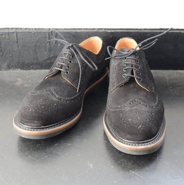 Arrow Footwear(アローフットウェア)/ BLACK SUEDE 5 EYE BROGUE SHOE -BLACK SUEDE-