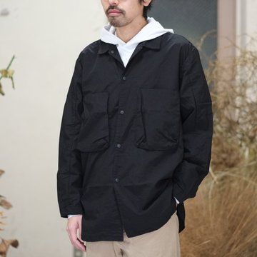 【30% off SALE】blurhms(ブラームス) / Nylon Utility Shirt Jacket -BLACK- BHS-18SS0006