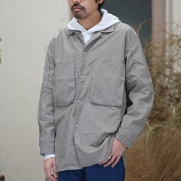 【30% off SALE】blurhms(ブラームス) / Nylon Utility Shirt Jacket -GREY BEIGE- BHS-18SS0006