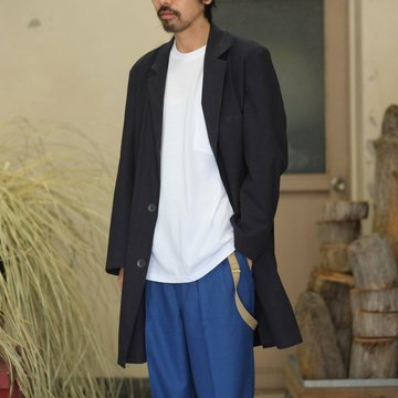 【40% off SALE】FRANK LEDER(フランク リーダー) BRUSHED COTTON COAT -NAVY-  #0211003 【S】