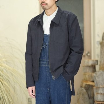 【40% off SALE】FRANK LEDER(フランク リーダー) BRUSHED COTTON BOMBER JACKET -NAVY-  #0217005