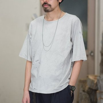 【30% off SALE】【2018 SS】FRANK LEDER(フランク リーダー) INKED COTTON JERSEY TEE -GREY-  #0219073