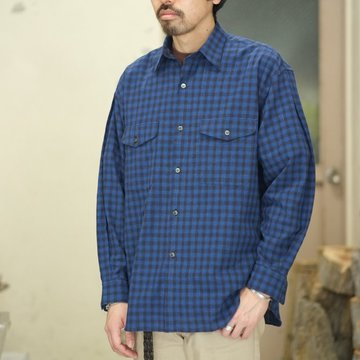 【30% off SALE】【2018 SS】7 × 7 / seven by seven ( セブン バイ セブン )  TACK SHIRT [Check] -Blue- #SBSS18TSHC