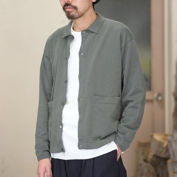【2018 SS】crepuscule(クレプスキュール) Knit Shirt  -Green- #1801-005