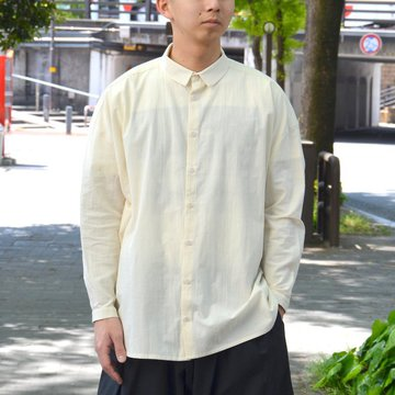 【2018 SS】 toogood(トゥーグッド) / THE DRAUGHTSMAN SHIRT COTTON CALICO LW -RAW- #GBCHITRA45LON-1