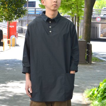 toogood(トゥーグッド) / THE APPLEPICER TOP COTTON PERCALE SHIRT -COAL- #THEAPPEPICKER2