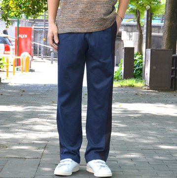 【40% OFF SALE】 ts(s) (ティーエスエス) Smooth Cotton Terry Jersey Asymmetry Line Track Pants -(28)Dark Navy #ET38XC10