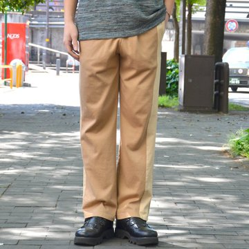 【40% OFF SALE】 ts(s) (ティーエスエス) Smooth Cotton Terry Jersey Asymmetry Line Track Pants -(32)Light Beige #ET38XC10