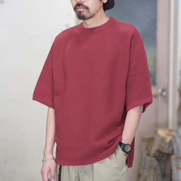 【2018 SS】crepuscule(クレプスキュール) TUCK KNIT   -RED- #1801-009