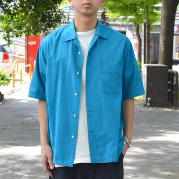 【30% OFF SALE】 MARKAWARE(マーカウェア)/ OPEN COLLAR SHIRTS S/S -TURKISH BLUE- A18A-12SH01B