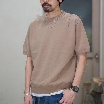 【30% off SALE】【2018 SS】7 × 7 / seven by seven ( セブン バイ セブン ) TACK SWEAT HS  -BEIGE- #SBSS18TSWH