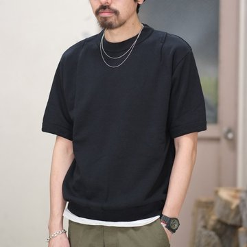 【50% off SALE】7 × 7 / seven by seven ( セブン バイ セブン ) TACK SWEAT HS  -BLACK- #SBSS18TSWH