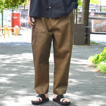 【2018 SS】 HED MAYNER(ヘド・メイナー) / Four pleat Pants -KHAKI- #HMP202