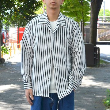 【30% OFF SALE】 MARKAWARE(マーカウェア)/ COACH SHIRT -WHITE X BLACK- #A18A-11SH03C