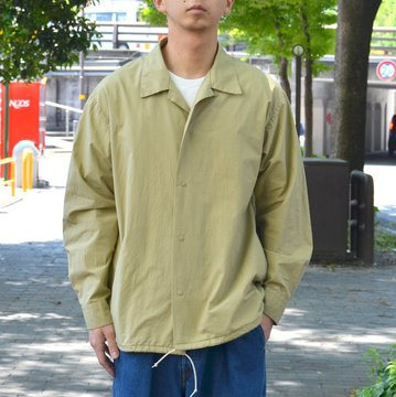 【30% OFF SALE】 MARKAWARE(マーカウェア)/ COACH SHIRT -OLIVEGRAY- #A18A-09SH01C