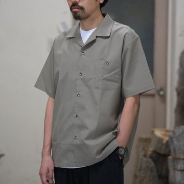 BROWN by 2-tacs (ブラウンバイツータックス) OPEN COLLAR -Khaki- #B19-S002