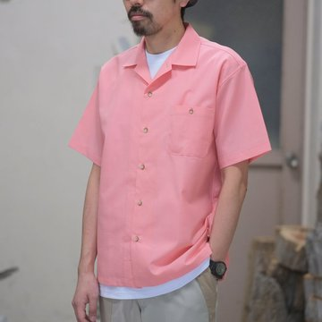 BROWN by 2-tacs (ブラウンバイツータックス) OPEN COLLAR -PINK- #B19-S002