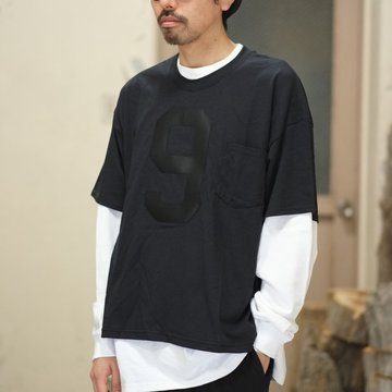 【2018 SS】RANDT (アールアンドティー) T-Shirt   [Number 9 ] -Black- #CH479