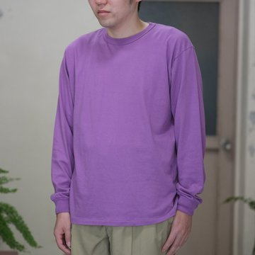 AURALEE(オーラリー)/  SOFT CORD L/S TEE -PURPLE- #A8SP01MT