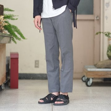 ANATOMICA (アナトミカ) Trim Fit Pants[POPLIN] -GRAY-