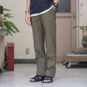 ANATOMICA (アナトミカ) Chino Pants[HERRINGBONE] -OLIVE-