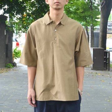 【30% OFF SALE】tim.(ティム)/ WINDOW PANE DOLMA POLO -(63)BEIGE- #8103-0603