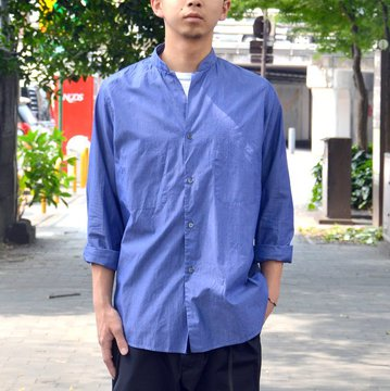 Honor gathering(オナーギャザリング) dressy cotton stripe shirts -blue stripre- #18SS-S04