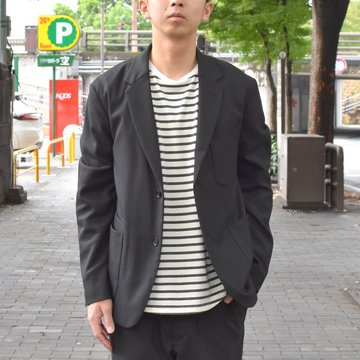 【2018 AW】A VONTADE(ア ボンタージ) Lounge Jacket -T/R Stretch Serge-BLACK- #VTD-0279-JK
